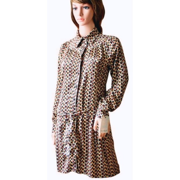 Zara Dresses & Skirts - Vintage Zara Love TRF GeoMod Button Dwn Shirtdress